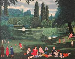 Bombois Camille, Parc Baden Baden, tableau
