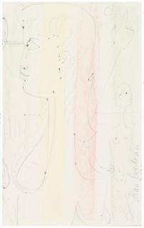 Jean Cocteau, la muse, dessin
