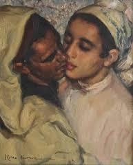 José Cruz Herrera, le baiser, tableau