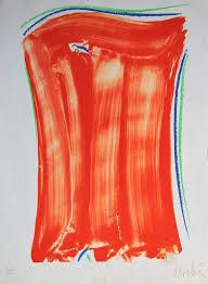 Olivier Debré, composition en rouge