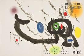 Juan Miro, derrière le Miroir, portfolio lithographies