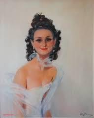 Jean Gabriel Domergue, jeune femme à la fossette, panneau