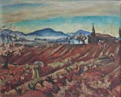 Willy Eisenchitz, le champ rouge, tableau