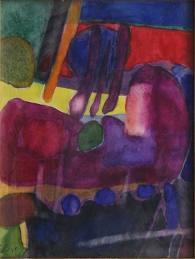 Maurice Estève, composition, aquarelle