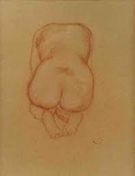 Aristide Maillol, nu, dessin