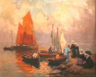 Henri Barnoin, l'arrivée des pêcheurs