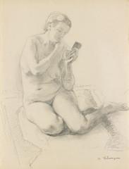 Henri Lebasque, femme au miroir