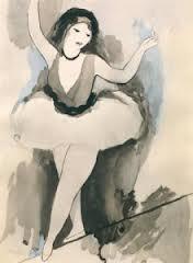 Marie Laurencin funambule, dessin