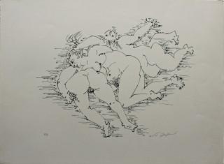 André Masson érotisme féminin, lithographie