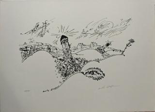 André Masson, composition érotique, lithographie