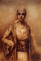 Fausto Zonaro, le cimetière de Constantinope, tableau