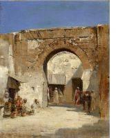 Pierre Victor Huguet, la porte de Constantinople, tableau