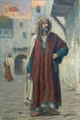 Fernand Bivel, arabe debout, tableau