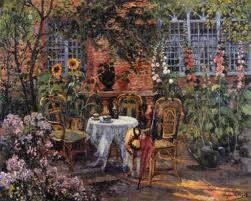 Eugène Chigot, la Pergola, tableau