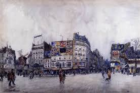 Frank Boggs, place blanche, aquarelle