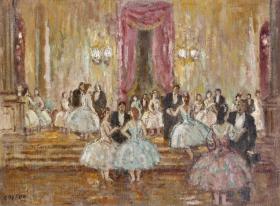 Marcel Cosson, foyer de l'Opéra, tableau