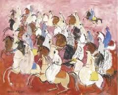 Hassan El Glaoui, cavaliers, tableau