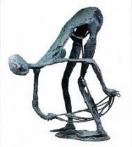 Robert Couturier, femme s'essuyant, bronze