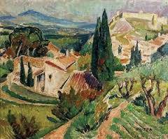Muter Mela, sur le Pont d'Avignon, tableau