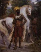 Antony Serres, cavalier arabe, tableau