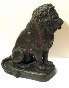 Antoine Louis Barye, lion assis, bronze