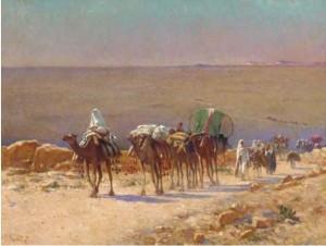 Alexis Delahogue, la caravane, tableau