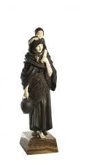 Chiparus Demeter, femme et enfant, sculpture