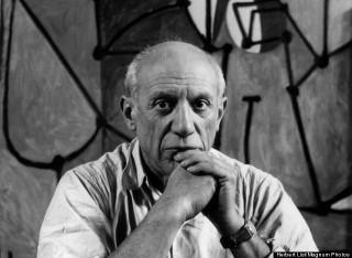 Picasso Pablo, tête géométrique, plat