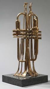Arman, trompettes découpées, sculpture bronze