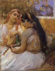 Frédérick Bridgman, jeunes femmes, tableau