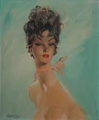 Jean Gabriel Domergue, jeune femme au foulard rose