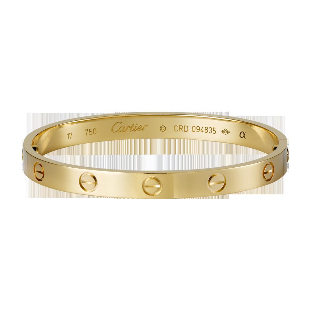 Le bracelet Love apparaît chez Cartier fin 1969